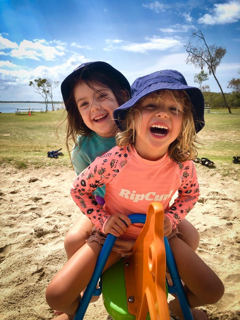 Beach Kindy - Suncoast Little Learners on pay equipment at Sunshine Coast island