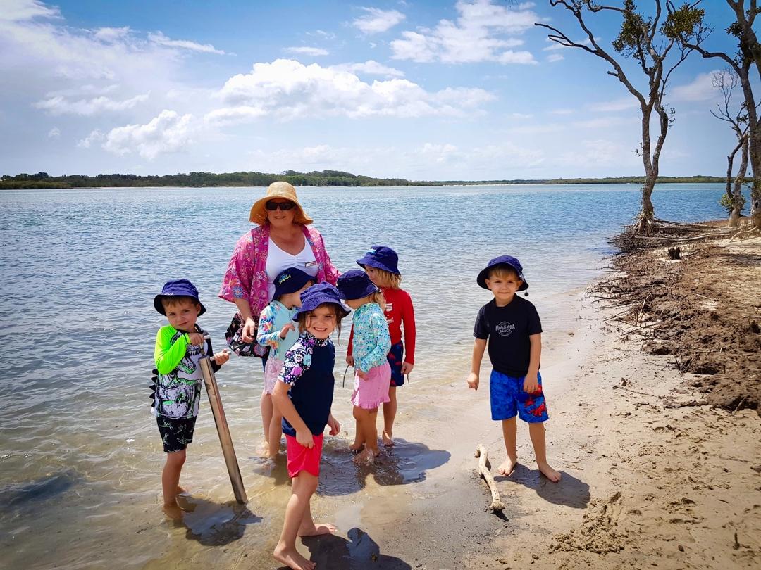 Beach Kindy - Suncoast Little Learners on beach at Chambers Island Sunshine Coast
